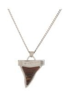 Givenchy Tiger Iron Shark's Tooth Pendant on Double-Strand Chain