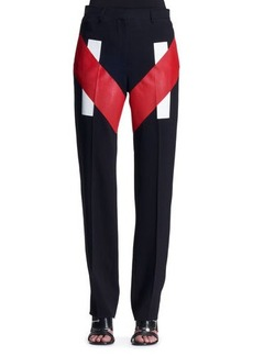 Givenchy V-Panel Colorblock Trousers