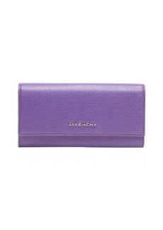 Givenchy violet leather continental wallet