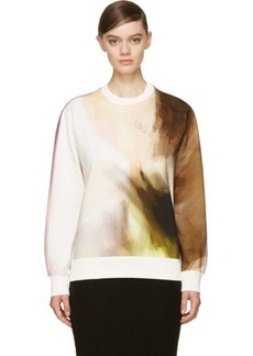 Givenchy White Multicolor Abstract Print Sweatshirt