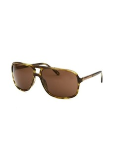 Givenchy Women's Aviator Olive Havana Sunglasses