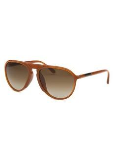 Givenchy Women's Aviator Orange Sunglasses