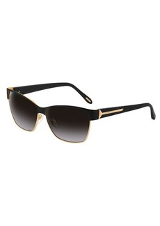 Givenchy Women's Black & Gold Wayfarer Sunglasses