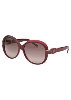 Givenchy Women's Oversized Bordeaux Sunglasses