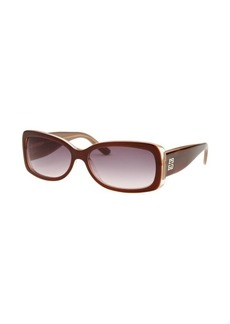 Givenchy Women's Rectangle Burgundy Sunglasses