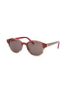 Givenchy Women's Round Red and Beige Sunglasses