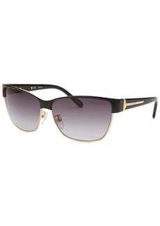 Givenchy Women's Wayfarer Black and Gold Sunglasses