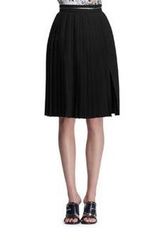 Givenchy Zipper-Waist Accordion Skirt