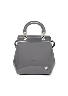 HDG Top Handle Mini Patent Leather Crossbody Bag, Gray   HDG Top Handle Mini Patent Leather Crossbody Bag, Gray