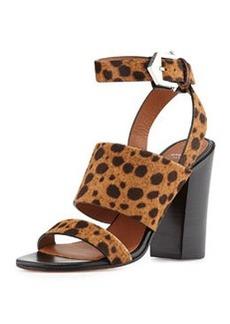 Leopard-Print Calf Hair City Sandal   Leopard-Print Calf Hair City Sandal
