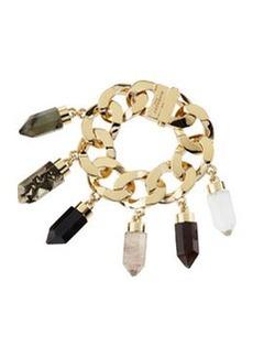 Point Crystal Charm Bracelet   Point Crystal Charm Bracelet