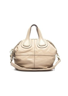 Pre-Owned Givenchy Beige Calfskin Ring Detail Nightingale Bag