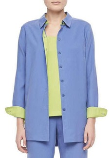 Go Silk Colorblocked Silk Shirt, Women's