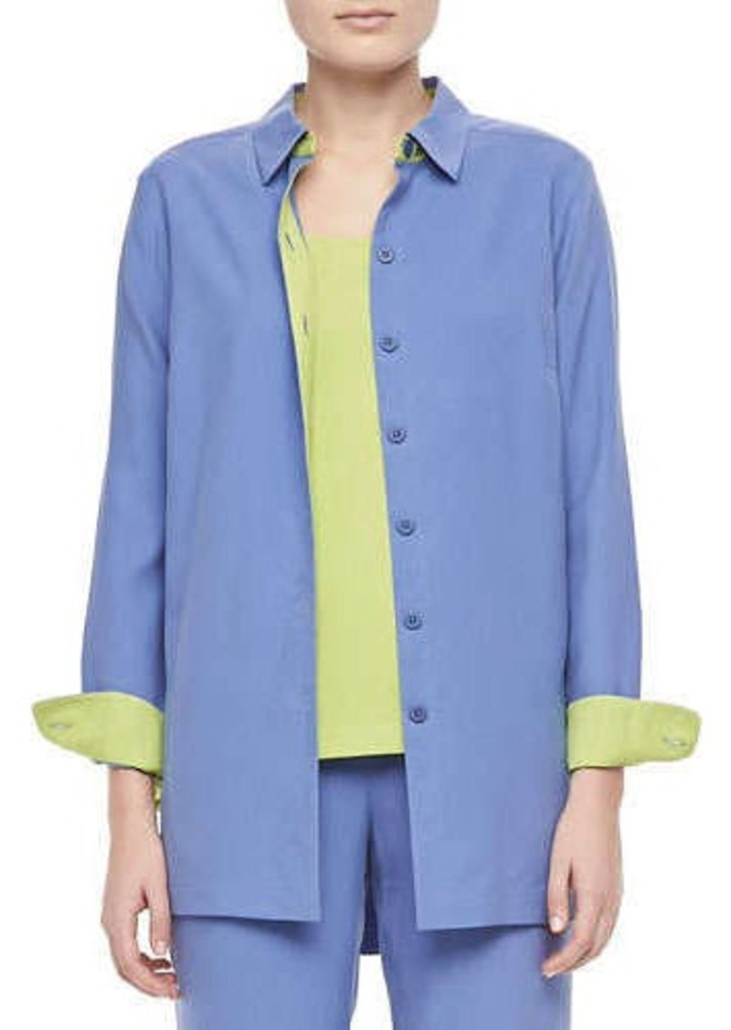 Go Silk Colorblocked Silk Shirt, Women's