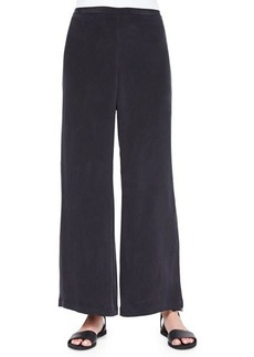 Go Silk Full-Leg Silk Pants, Black
