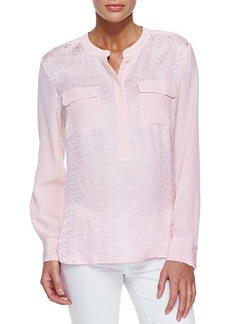 Go Silk Jacquard Two-Pocket Tunic, Petite