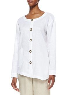 Go Silk Linen Asymmetric Shirt, Women's