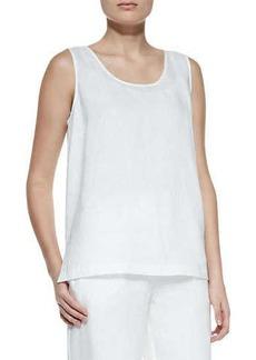 Go Silk Linen Scoop-Neck Tank, Women's