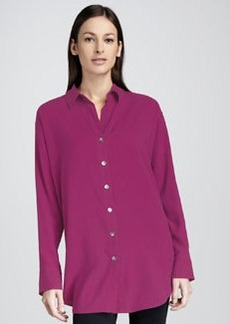 Go Silk Long Big Silk Shirt
