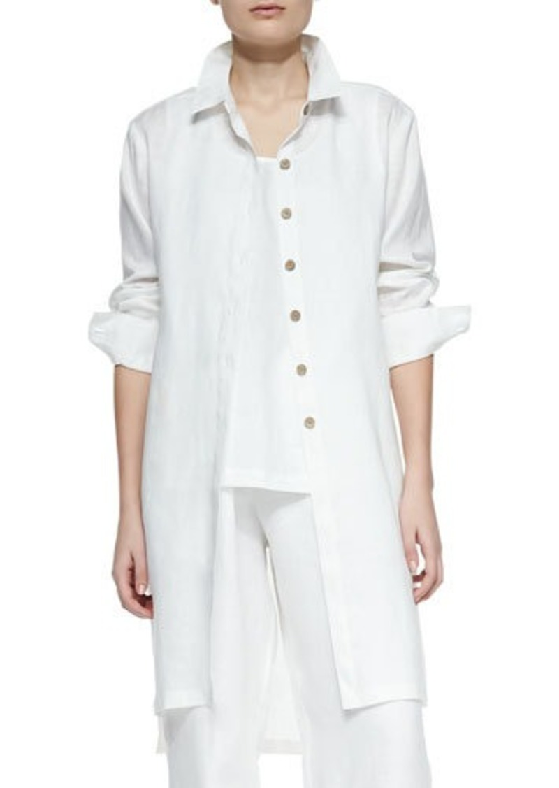 Go Silk Long-Sleeve Linen Duster, Women's