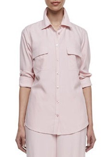 Go Silk Long-Sleeve Silk Safari Shirt