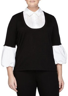 Go Silk Plus Knit Illusion Blouse