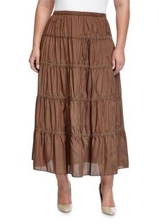Go Silk Plus Tiered A-Line Skirt