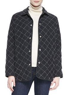 Go Silk Quilted Silk Barn Jacket, Petite