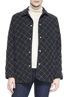 Go Silk Quilted Silk Barn Jacket, Women's