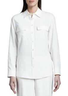 Go Silk Safari Long-Sleeve Silk Shirt, Women's