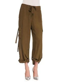 Go Silk Silk Cargo Pants, Petite