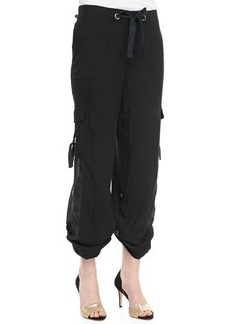 Go Silk Silk Cargo Pants, Women's