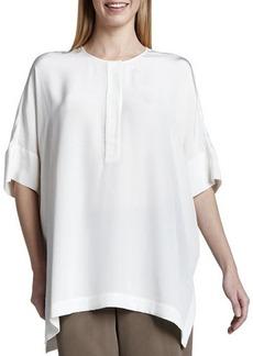 Go Silk Silk Dolman-Sleeve Tunic  Silk Dolman-Sleeve Tunic