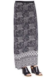 Go Silk Silk Printed Long Skirt, Women's