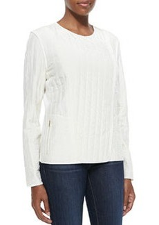 Go Silk Silk Quilted Jacket, Soft White, Petite