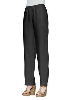 Go Silk Straight-Leg Linen Pants, Women's