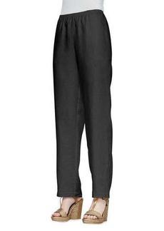 Go Silk Straight-Leg Linen Pants, Women's