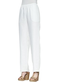 Go Silk Straight-Leg Linen Pants