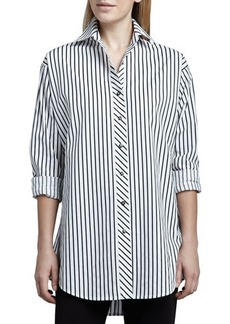 Go Silk Striped Big Shirt  Striped Big Shirt