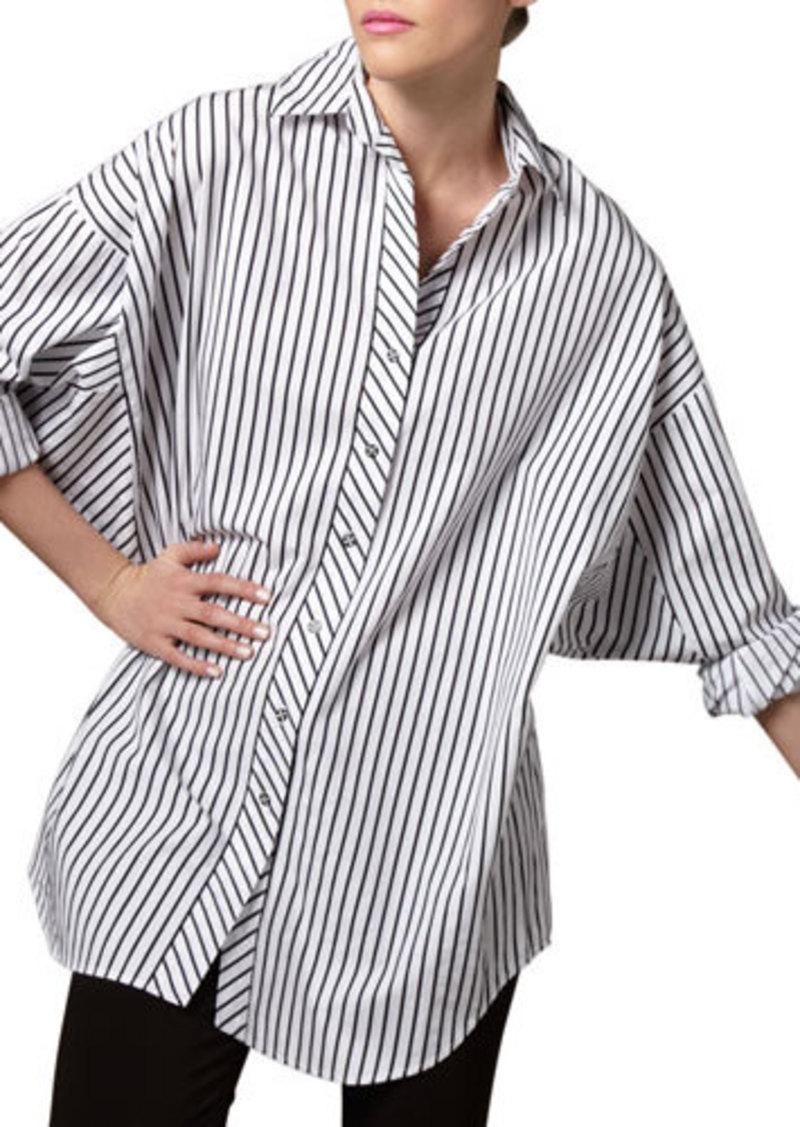 Go Silk Striped Big Shirt, Petite