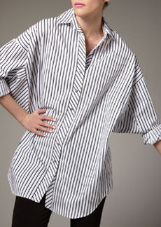 Go Silk Striped Big Shirt, Women's