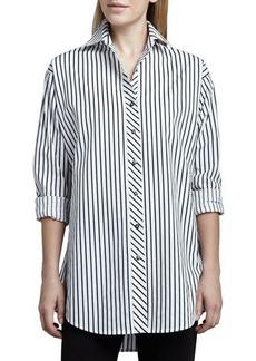 Go Silk Striped Big Shirt, Women's