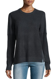 Go Silk Thermal-Stitched Silk-Back Sweater  Thermal-Stitched Silk-Back Sweater