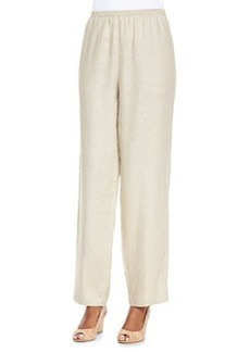 Go Silk Unlined Straight-Leg Linen Pants, Women's