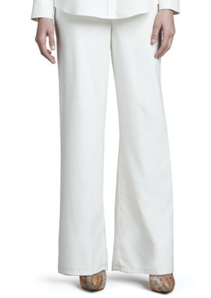 Go Silk Wide-Leg Silk Pants, Petite