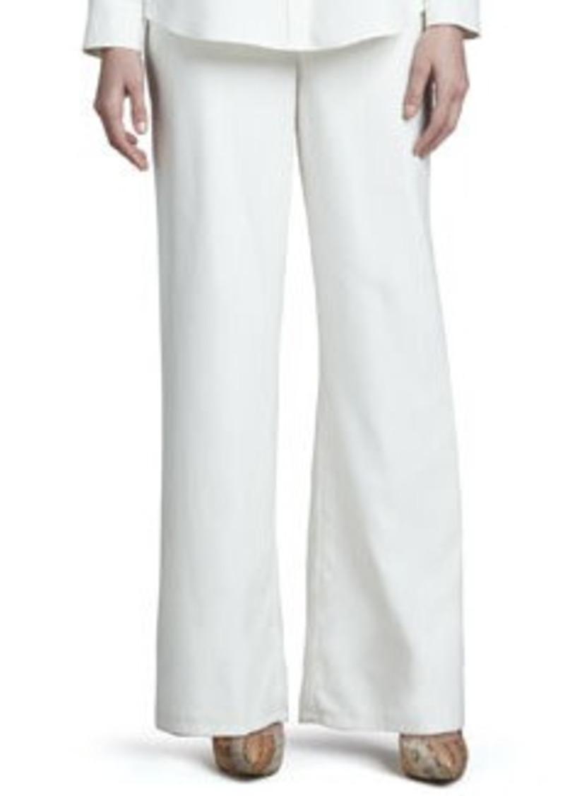 Go Silk Wide-Leg Silk Pants, Women's