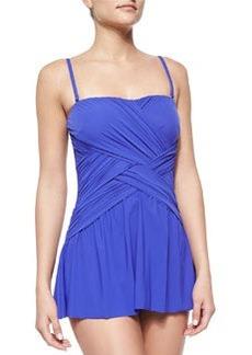 Flutter Lattice-Wrap Swim Dress   Flutter Lattice-Wrap Swim Dress