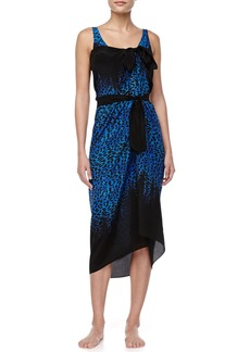 Gottex Bangalore Belted Silk Pareo Coverup