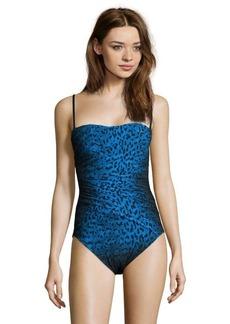 Gottex black and blue leopard 'Bangalore' swimsuit