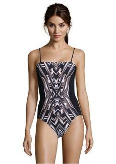 Gottex black and white 'Cote d'Ivoire' swimsuit